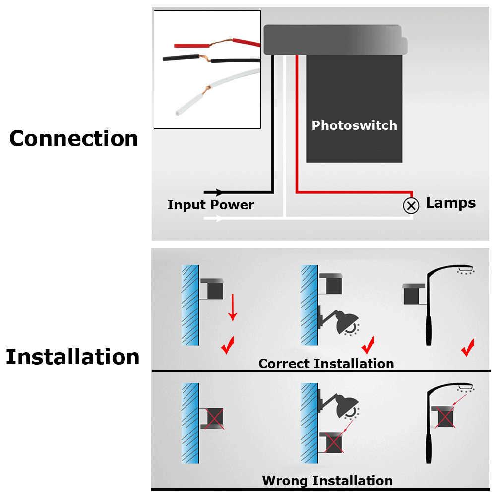 small resolution of  street light sensor switch 220v 110v 12v 24v ac dc 10a automatic on off photocell street