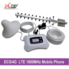 Homely and fashionable repeater 2g 4g with LCD DCS 1800mhz mobile signal booster with yagi antenna and ceiling antenna