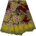 Yellow Fashion Veritable Wax Hollandais Guaranteed Real Dutch Wax 100% Cotton African Wax Fabric 6yards African Wax Print Fabric