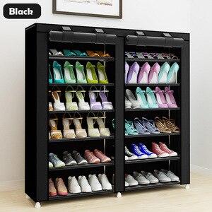 Image 4 - كبير الحذاء الرف 7 layer 9 mesh غير المنسوجة الأقمشة خزانة خذاء المنظم للإزالة تخزين الأحذية للأثاث المنزلي