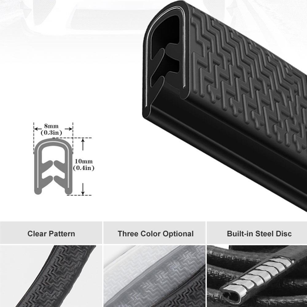 Universel 5M voiture porte Anti-Collision bande avec disque en acier pare-chocs garniture bord rayure protection bande d'étanchéité garde Decora style