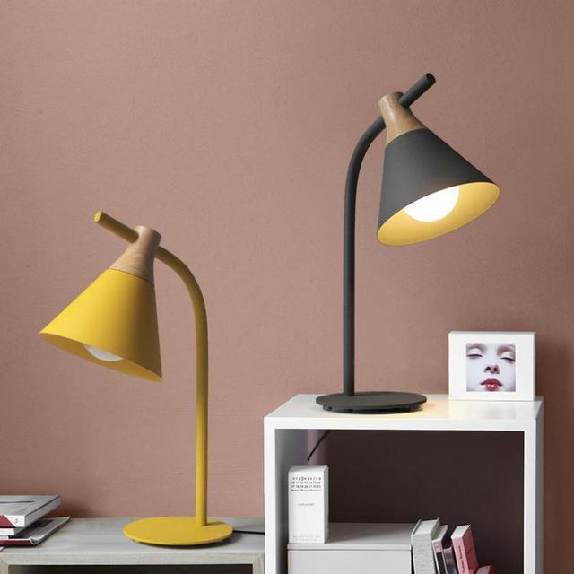 Denmark Colourful Led Kids Desk Table Lamp Abajur Study S Bedroom Art Deco Nordic