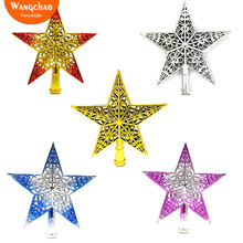 Hollowed-out Stars Christmas Tree Topper Decorations Gifts  Xmas Decora for Home Deals