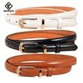 [KAITESICZI] delgado salvaje de cuero de moda femenina de Corea del cinturón de cuero cinturón de cuero femenino de la correa delgada pequeña correa de cuero de alta calidad