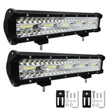 цена на Car light LED Bar Flood Beam Car Fog Lamp 15 Inch 300W For Ford Jeep UTV ATV SUV Jeep Truck Boat 4WD 4X4 Daytime LED Light Bar