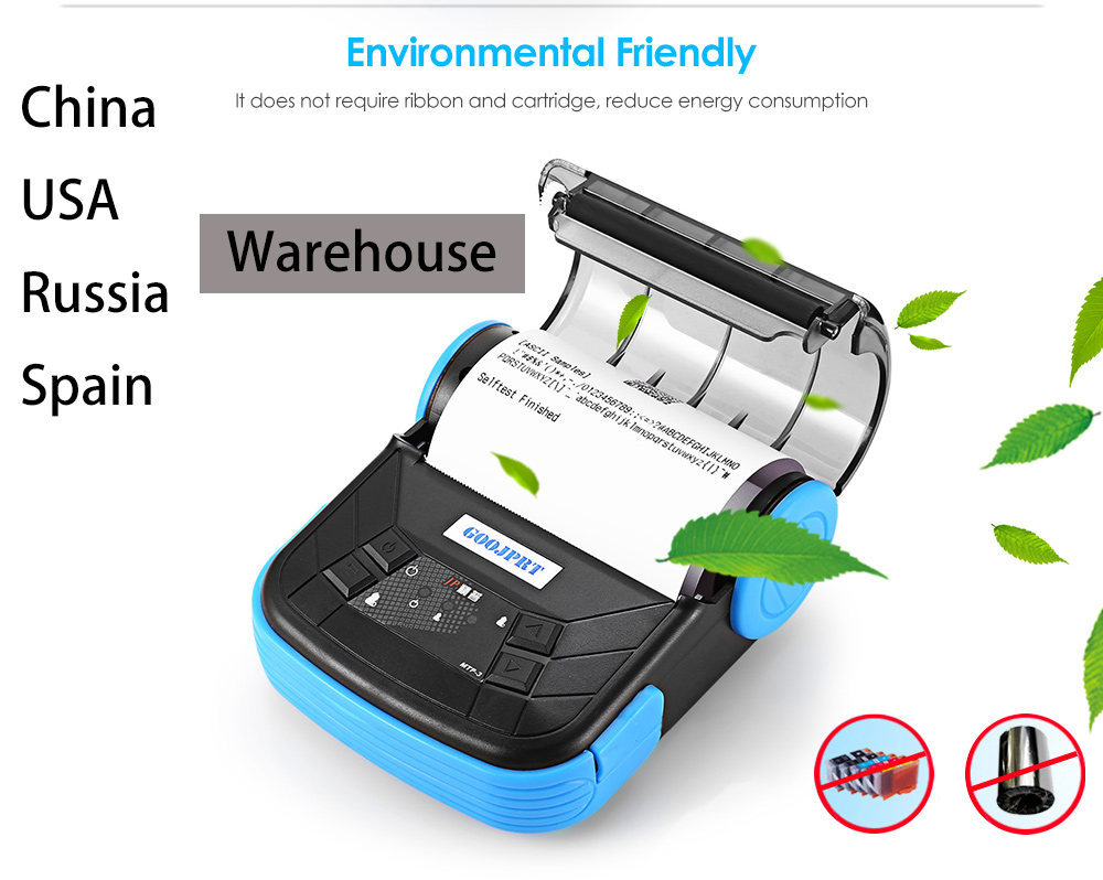 MTP-3 80mm Mini Bluetooth Themal Printer Portable Wireless Thermal Receipt Printer Suitable For Android IOS Windows