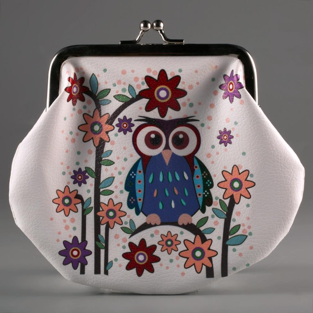 Fashion Classic Style Coin Purse Lady Thin PU Leather Animals Owl Wallet Card Holder Coin Purse Clutch Handbag кухонная мойка omoikiri kata 20 u gr artgranit leningrad grey 4993376
