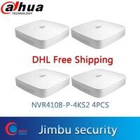 Dahua NVR 8CH NVR4108 P 4KS2 4PCS Smart 1U 4PoE port 4K & H.265 Lite Netzwerk Video Recorder Bis zu 8MP Auflösung|Überwachungsvideorekorder|Sicherheit und Schutz -