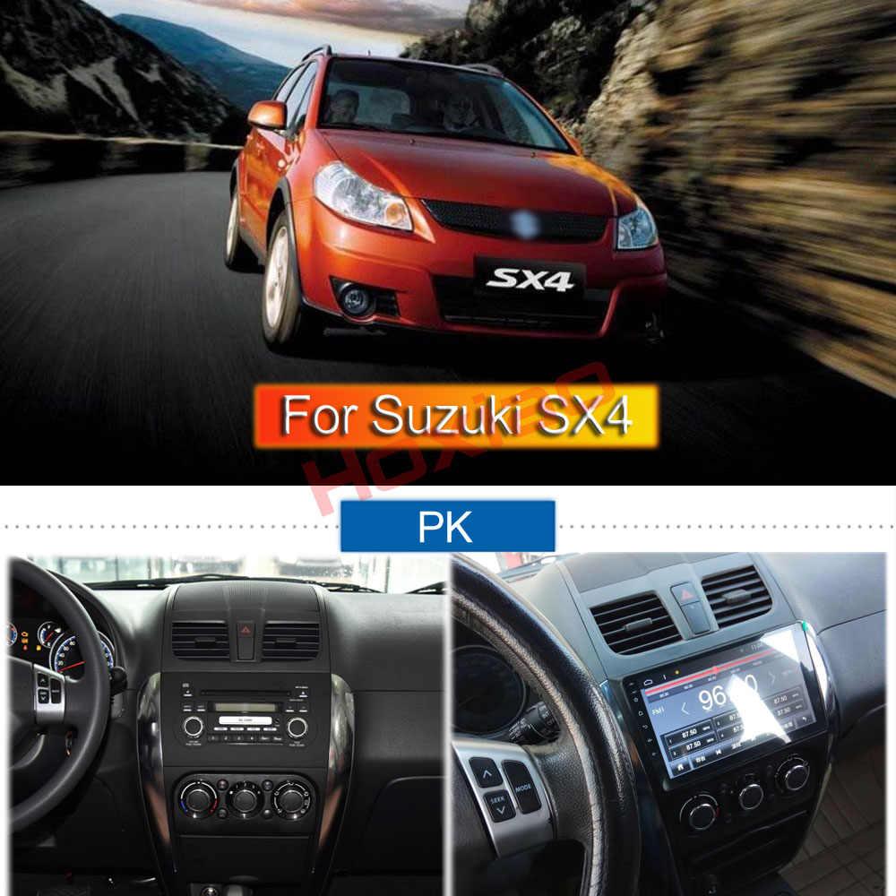"""2 DIN 車の Android ラジオマルチメディアプレーヤー SX4 2006-2013 クアッドコア 9 """"1024*600 bluetooth 2 喧騒車の Dvd Gps ナビゲーション"""