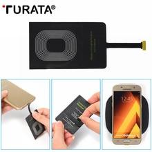 TURATA Qi Беспроводное зарядное устройство приемник комплект катушки ультра тонкий универсальный для Android Micro USB samsung Galaxy LG huawei Xiaomi