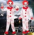Payaso payaso miedo del mono para niños disfraces niños disfraces de halloween zombie traje ropa cosplay divertido para los niños