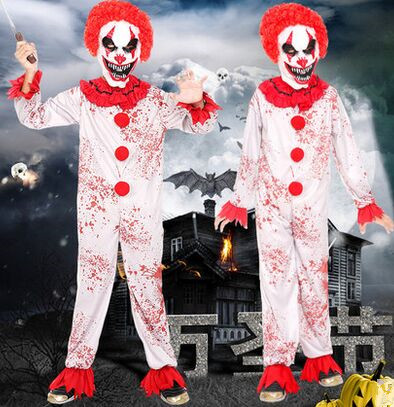 scary clown jumpsuit for children clown costume kids halloween costume zombie costume clothes funny cosplay for - Halloween Costumes Of Zombies