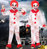 Scary Clown Jumpsuit For Children Clown Costume Kids Halloween Costume Zombie Costume Clothes Funny Cosplay For