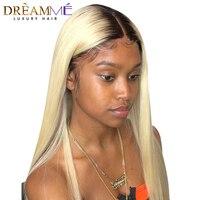 Ombre Полное Кружева натуральные волосы парики с ребенком волос предварительно Pluched 1B 613 светлые волосы Ombre парик бразильский Волосы remy Dream Me