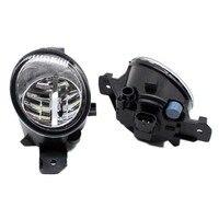 2pcs Car Styling Round Front Bumper LED Fog Lights DRL Daytime Running Driving fog lamps for NISSAN ALMERA 2/II Hatchback (N16)