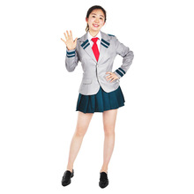 Anime My Hero Academia Cosplay OCHACO URARAKA Costumes  School Company uniform European size Free Shipping