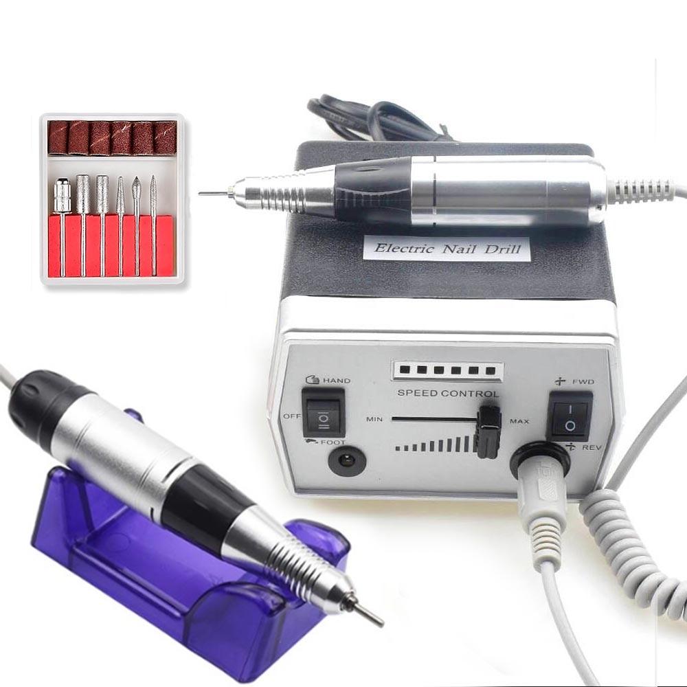 300-35000RPM Electric Nail Drill Machine Diamond Nail Cutter Bit Pedicure Maniure Machine Nail Drill Pen Bits Polisher Tool
