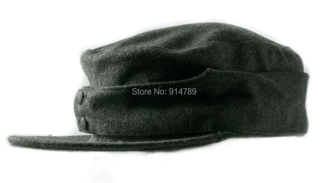 WWII GERMAN WH EM M43 PANZER WOOL FIELD CAP IN SIZES-35774