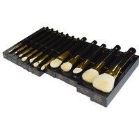 Высокое качество TF 12 шт. набор кистей для макияжа Профессиональная Натуральная козья шерсть акриловая ручка блендер для лица Кисть для маки...