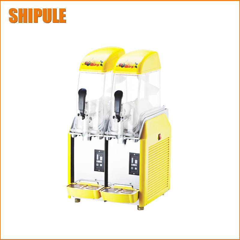 220V Commercial Two Tank Slush Machine+Ice Cream Machine For Cafeteria Coffee Shop Restaurant Commercial Business
