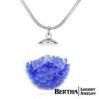 Women'S Fashion Magic Ball Long Pendant Necklace Full Of Austria Crystal Birthday Party Best Friend Gift Jewelry Bijoux