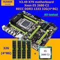 Desconto marca de hardware Do Computador HUANAN ZHI X79 motherboard com M.2 32 E5 slot de CPU Intel Xeon 2680 2.7GHz RAM G (4*8G) 1600 RECC