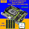 Korting Computer hardware merk HUANAN ZHI X79 moederbord met M.2 slot CPU Intel Xeon E5 2680 2.7GHz RAM 32G (4*8G) 1600 RECC