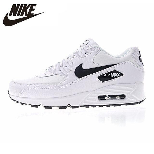 NIKE AIR MAX 90 esencial de los hombres y de las mujeres Zapatos blanco transpirable amortiguador ligero 325213 de 131