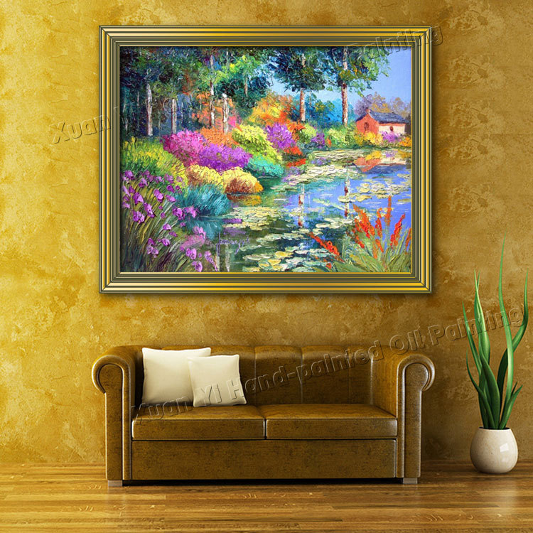 High Quality Handmade Large Canvas Paintings font b Knife b font Painting Modern Wall Art Picture