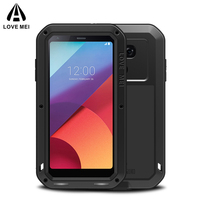 LOVE MEI Powerful Metal Armor Case For LG G5 G6 Dirtproof Shockproof, life waterproof case cover for LG G6 with tempered glass