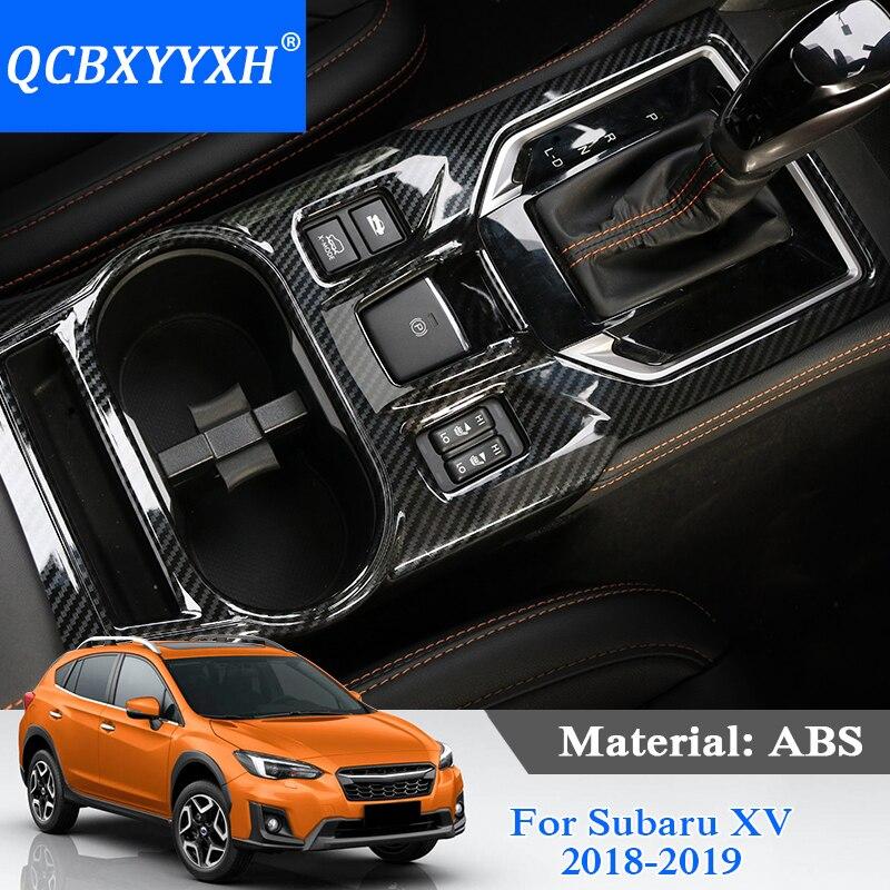 Car Styling ABS Gear Box Cadres Décoratifs Paillettes Pour Subaru XV 2018 2019 Interne Décorations Autocollants Porte Intérieur Cadre