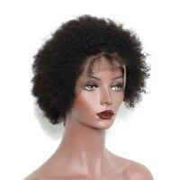 Короткие Человеческие волосы Синтетические волосы на кружеве боб парик монгольский афро странный Culy Синтетические волосы на кружеве Челов
