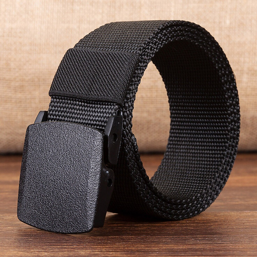Men Belts Automatic Buckle Nylon Belt Male Army Tactical Belt Mens Military Adjustable Waist Canvas Belts Outdoor Sports Camping