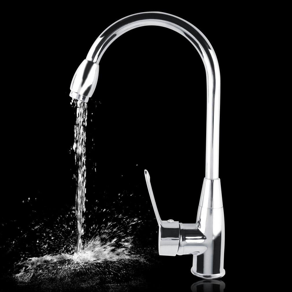 1 Set Alloy Chromed Hot Cold Mixer Water Tap Basin Kitchen Bathroom Wash Faucet P25