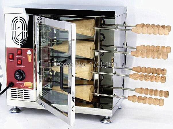 8 &16 Rollers Commercial 110v 220v Electric <font><b>Ice</b></font> Cream Cone Chimney Cake Kurtos Kalacs Grill Roll Oven <font><b>Maker</b></font> Machine