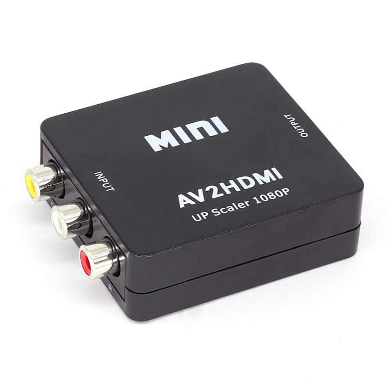 Mini AV TO HDMI Video Converter Kotak AV2HDMI RCA AV HDMI CVBS untuk HDMI Adaptor untuk HDTV TV PS3 PS4 PC DVD Xbox Proyektor