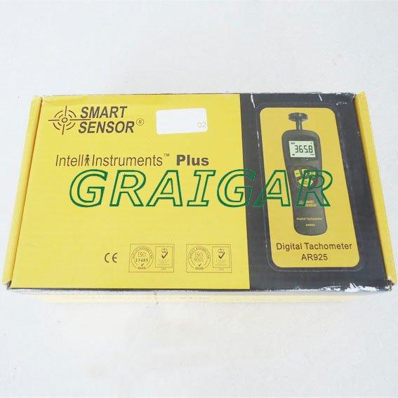 Capteur intelligent AR925 0.5 ~ 19999 tr/min Contact tachymètre numérique - 4