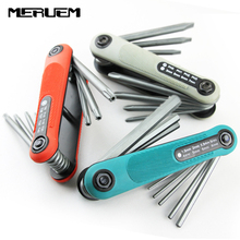 Portable 8PCS Folding precision screwdriver set  Wrench Lightweight Hex Torx Multi-size Spanner Repair Tool Screwdriver bit