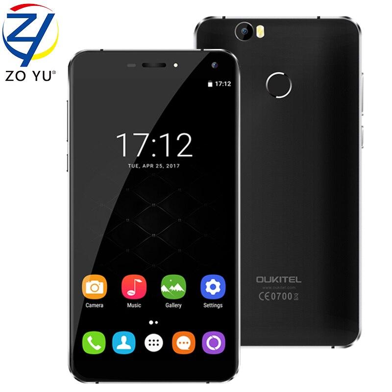 bilder für Oukitel u11 plus smartphone 4g android 7.0 mobiltelefon octa-core 4g + 64g mtk6750t 13.0mp fingerprint id 3700 mah 5,7 hd handy