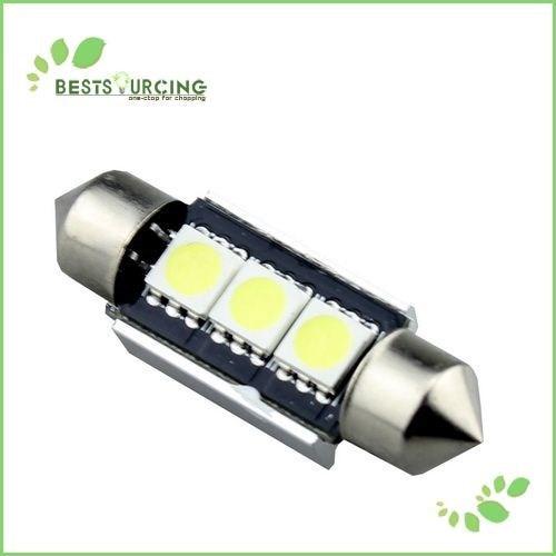 50pcs/lot Free Shipping 36MM 3 SMD 5050 LED Canbus Error Free Car White LED Festoon Dome Inetrior Reading Auto Light(CA081)