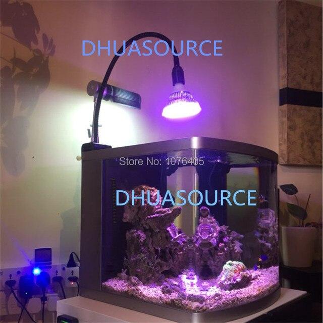Luminaires e27 support de lampe diy support de lampe aquarium lampe pince lampe de corail stand col de cygne base de pince