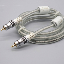 75 ohm dual magnetic ring shielded RAC digital coaxial power amplifier subwoofer audio cable coaxial audio line
