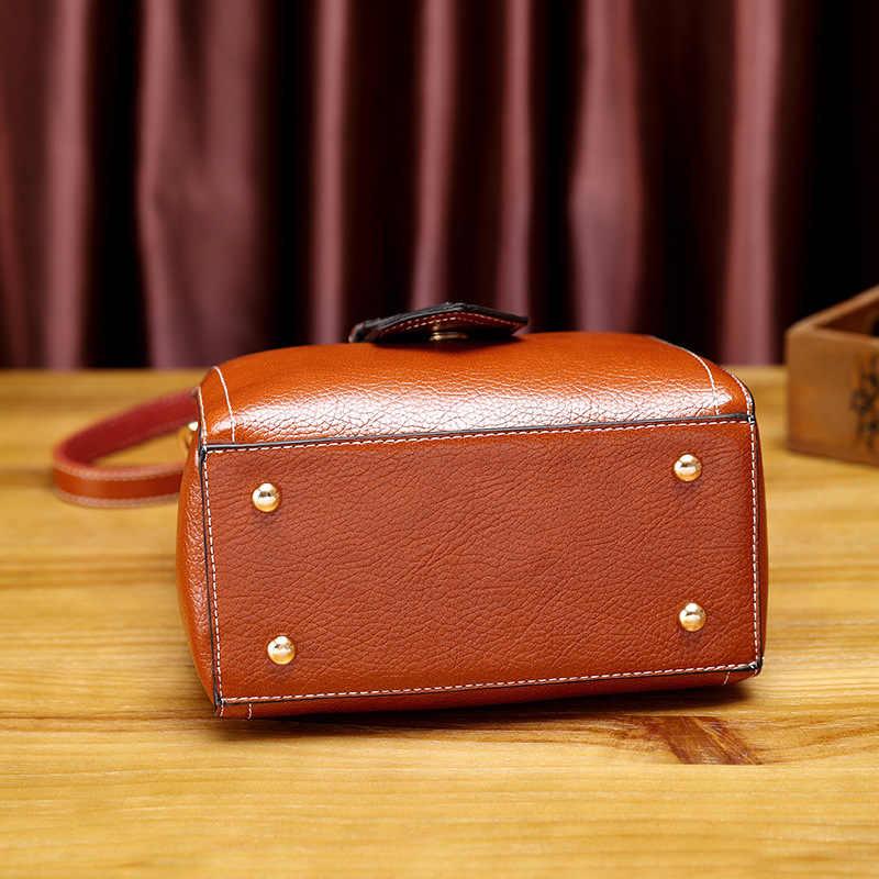 Crossbody حمل حقائب السيدات جلد طبيعي حقيبة يد المرأة الصغيرة الكتف حقيبة ساعي الإناث مقبض حقيبة شرابات جديد T18
