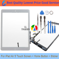 LL TRADER New Front Glass Panel Replacement For iPad Air iPad 5 5th 9.7 White Touch Screen Tablet Panel Digitizer Adhesive+Tool