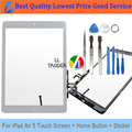 Ll comerciante nova frente substituição do painel de vidro para ipad air ipad 5 5th 9.7 branco tablet touch screen painel de digitador adesivo + Ferramenta
