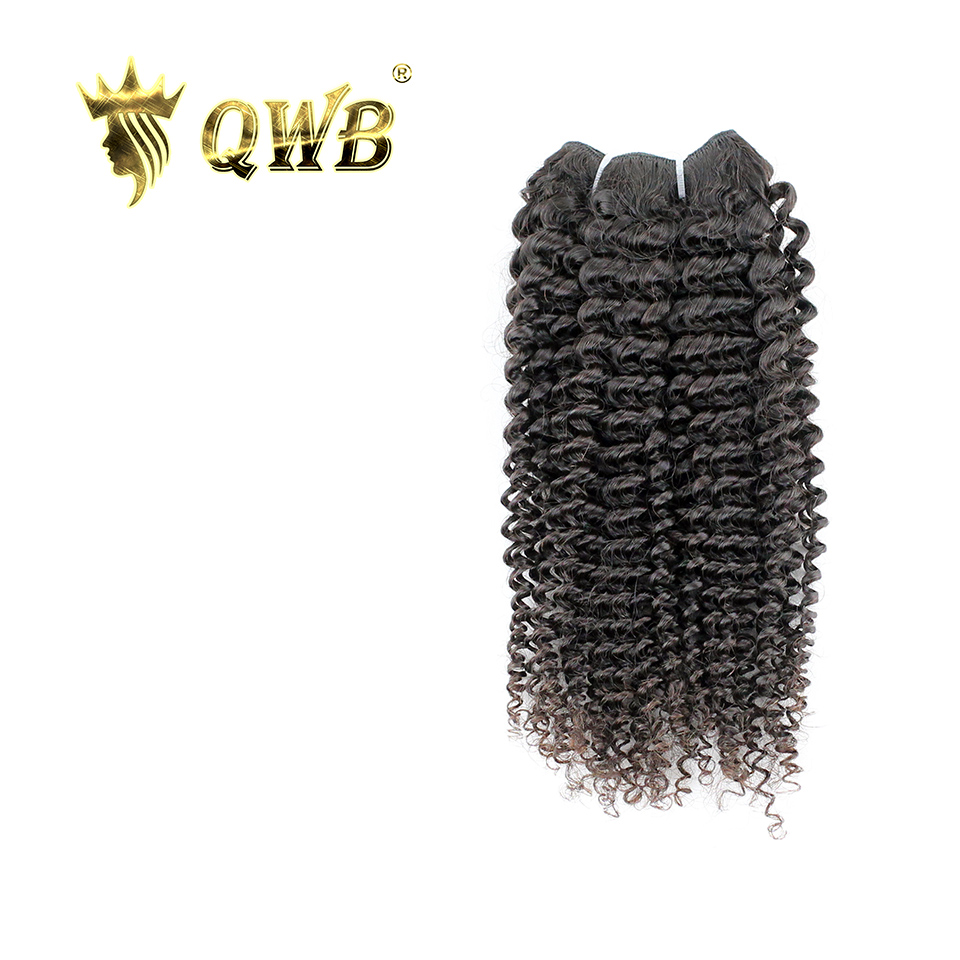 QUEEN WEAVE BEAUTY QWB Kinky Curly Free Combination 12 24 3C 4A Brazilian Virgin Hair Nature