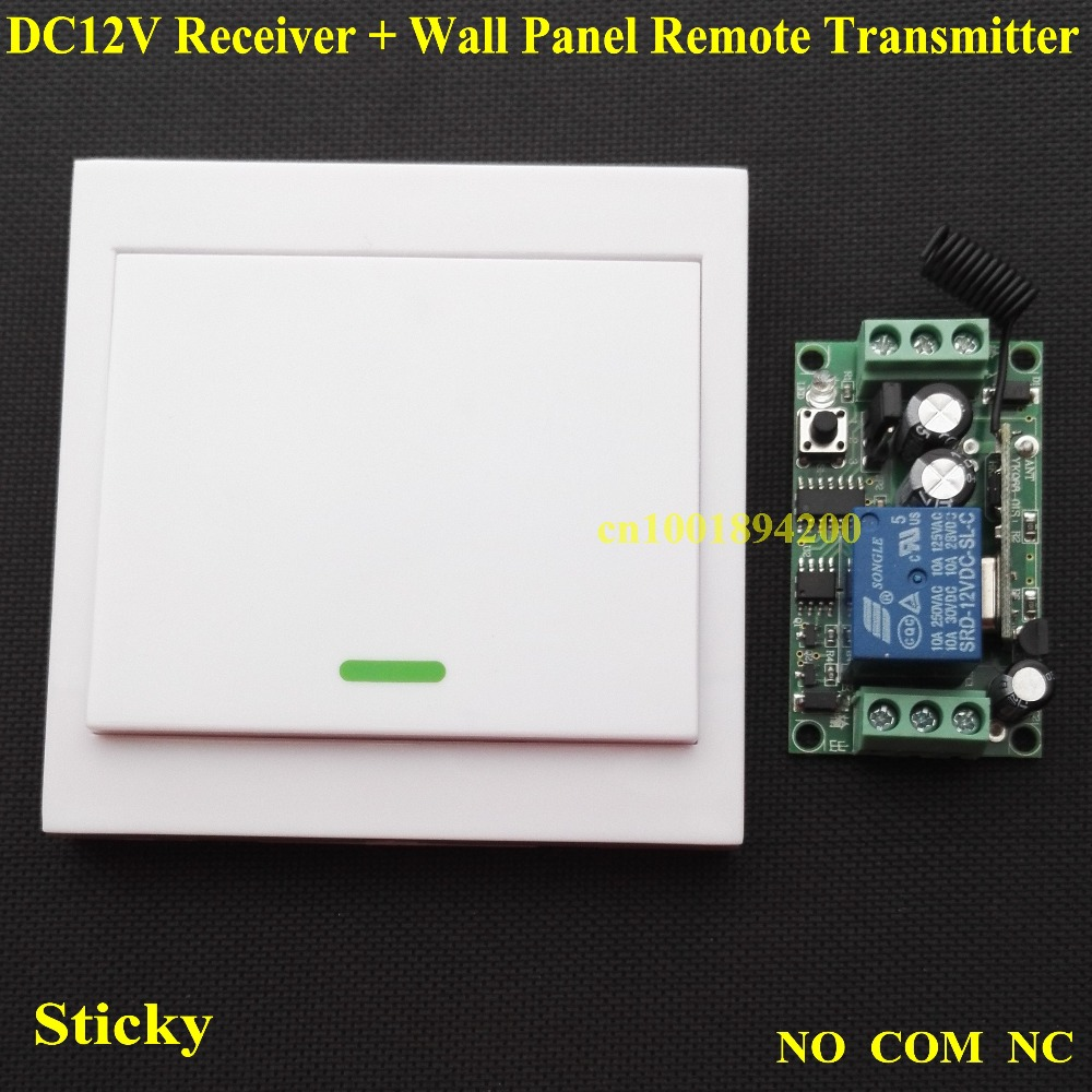 Led Strips Door Lock Remote Control Switch System Relay Receiver No Nc Contacts Com Contact Rx Wall Sticky Panel Transmitter In Switches From Lights