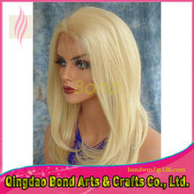 Free Style Natural Straight Full Lace Human Hair Wigs Unprocessed 8A Human Hair 613 Blonde Lace Front Wig For Women