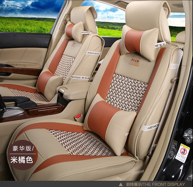 TO YOUR TASTE auto accessories leather car seat covers for Kia Optima Carens Sportage Cadenza waterproof universal cushion set - 2