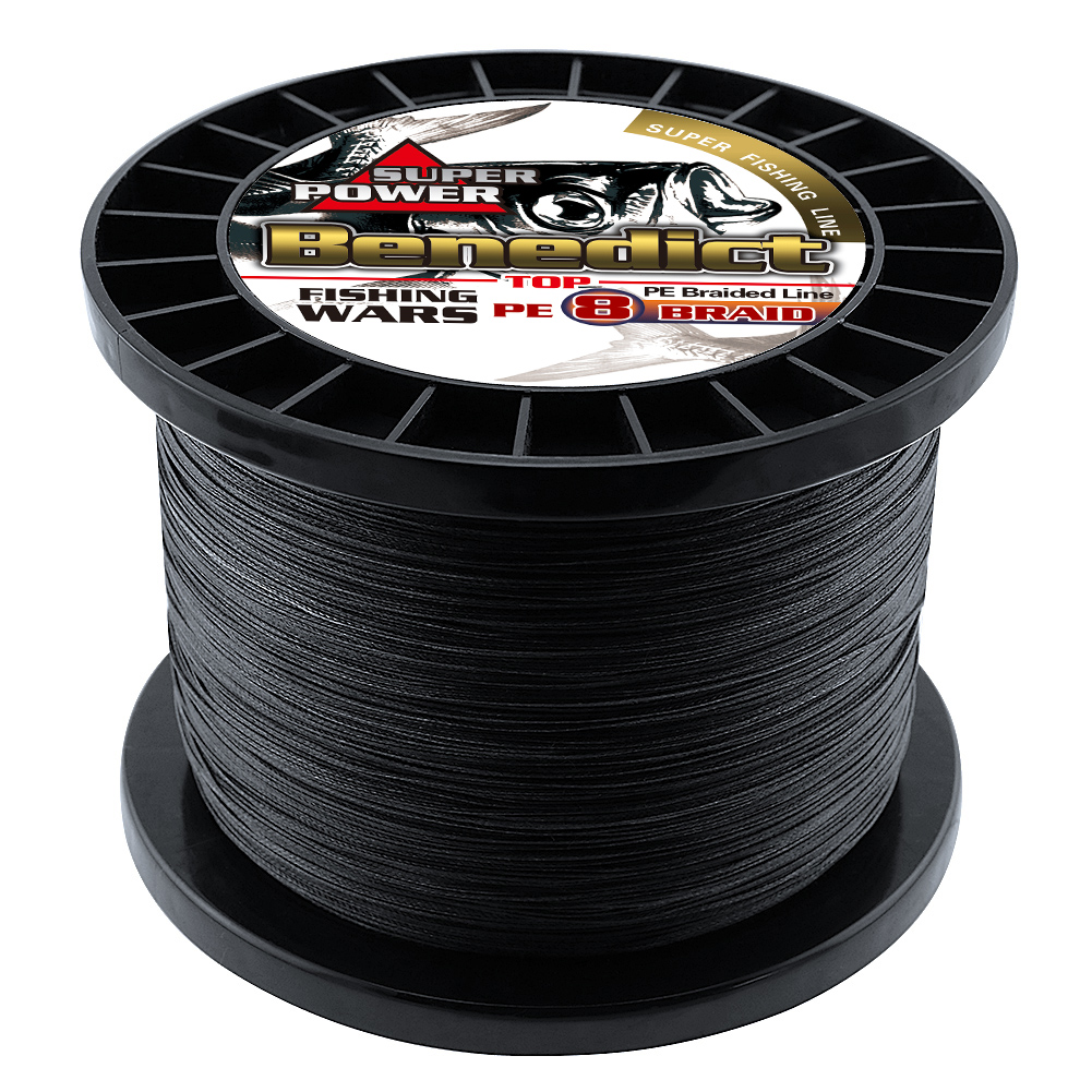 Image 3 - Braided fishing line 8 strands 8 300LBS never faded black long line 1500M 2000M pe braided wires thread fishing takle online-in Fishing Lines from Sports & Entertainment